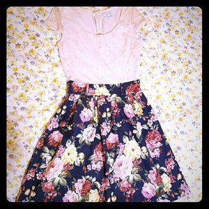 Delia's Floral Lace Dress